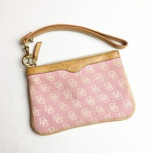 Dooney & Bourke Pink Signature Wristlet